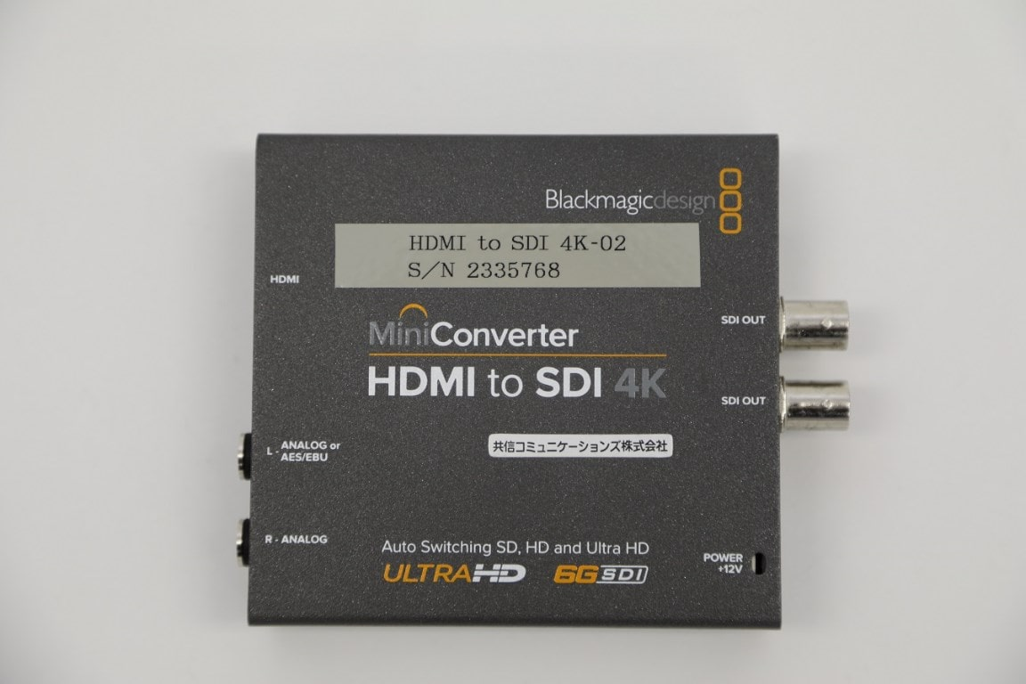 HDMI to 6G/HD/SD-SDIコンバーター